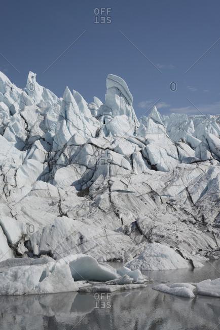 Glacial formation, Colony Glacier Knik Valley, Anchorage, Alaska, USA