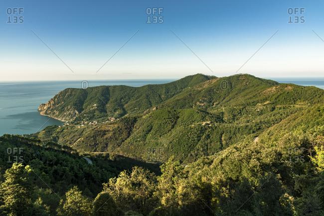 Italy- Liguria- Cinque Terre- coast and Ligurian Sea