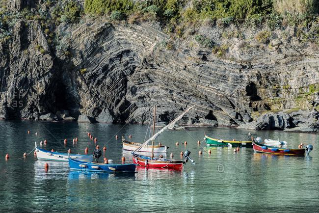 Italy- Liguria- Cinque Terre- bay of Vernazza