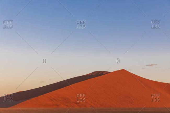 Africa- Namibia- Namib desert- Naukluft National Park- red-hot sand dune at afterglow
