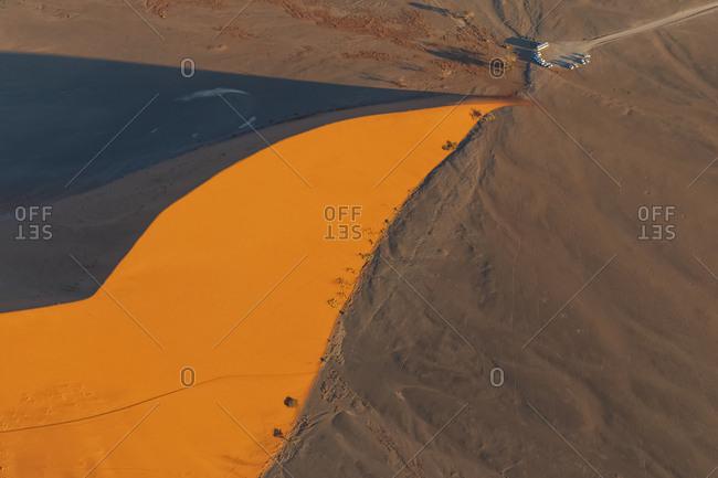 Africa- Namibia- Namib desert- Namib-Naukluft National Park- Aerial view of desert dune 45
