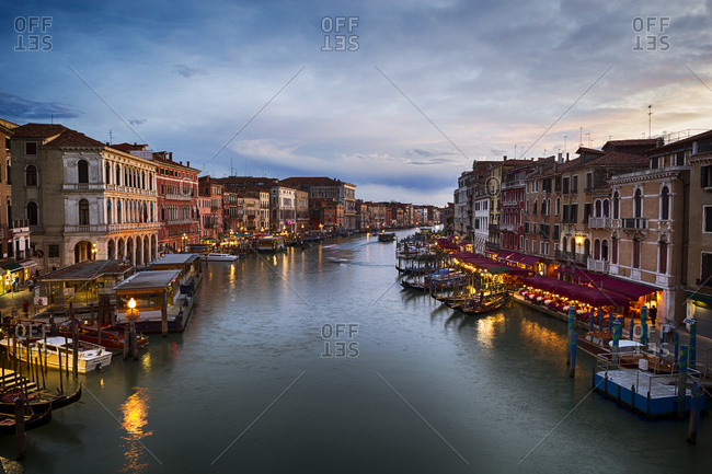 May 15, 2014: Italy- Venice- Canal Grande in the evening