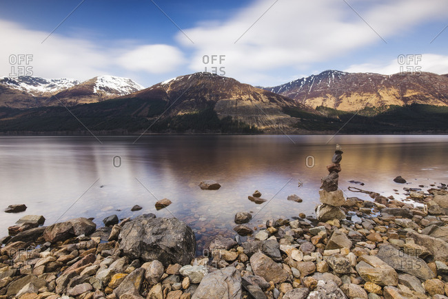 United Kingdom- Scotland- view of a loch