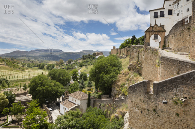 Spain- Malaga- Ronda with city wall
