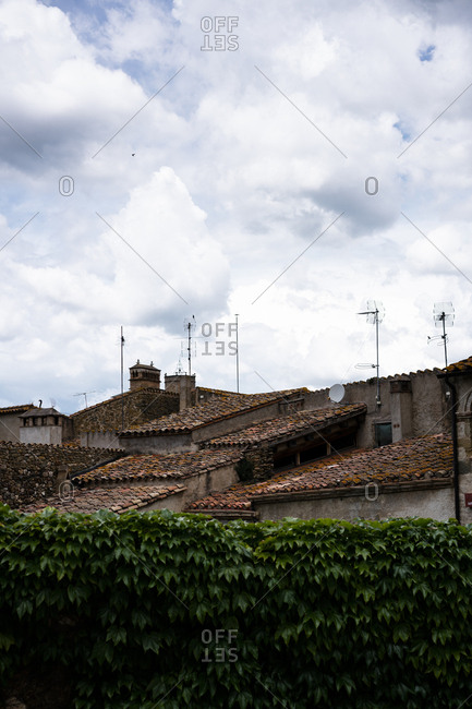 Buildings with clay rooftops in Spain