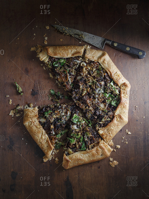Brussels sprouts galette