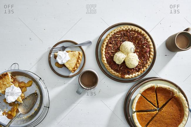 Three pies