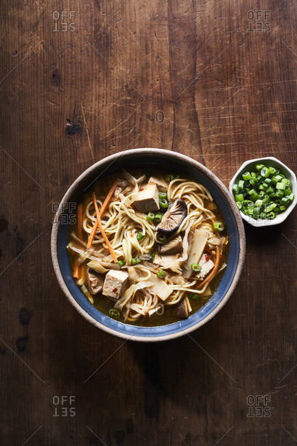 Shiitake and noodle hot and sour soup