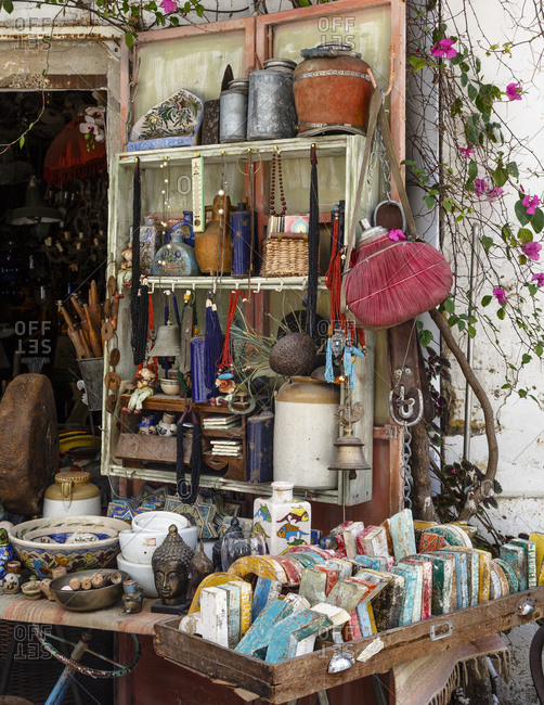 Detail at a shop in the flea market, Jaffa, Israel