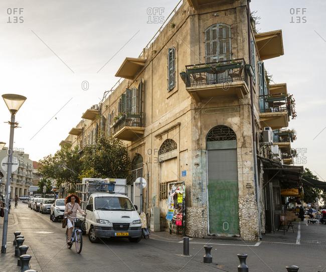 Jaffa, Israel - April 3, 2016: Street scene, Jaffa, Israel
