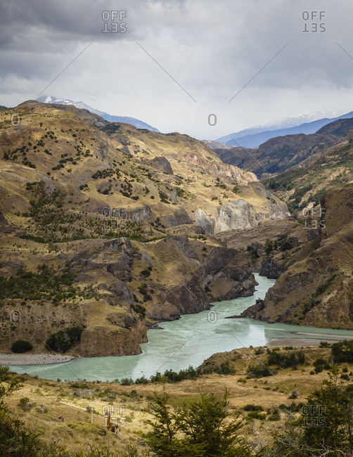 The confluence of the Baker and Chacabuco Rivers, Carretera Austral Road, Patagonia, Aysen Region, Chile