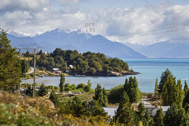 Patagonia, Aysen Region, Chile - February 18, 2016: Lago General Carrera, Carretera Austral Road, Patagonia, Aysen Region, Chile