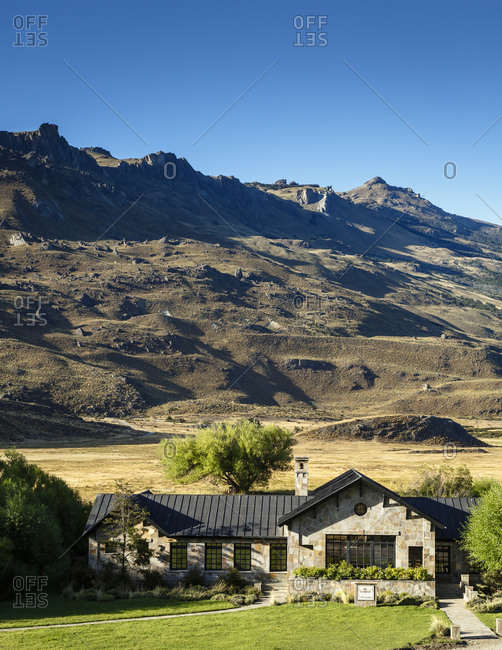 Patagonia, Aysen Region, Chile - February 14, 2016: The Lodge at Parque Patagonia, Aysen Region, Chile