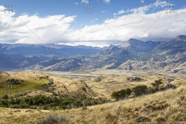 Vast landscape at the Chacabuco Valley, Parque Patagonia, Aysen Region, Chile