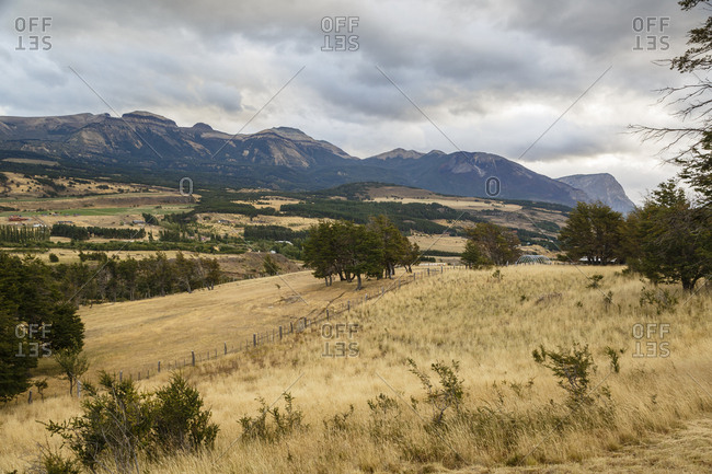 Vast view of landscape along the Carretera Austral Road, Patagonia, Aysen Region, Chile