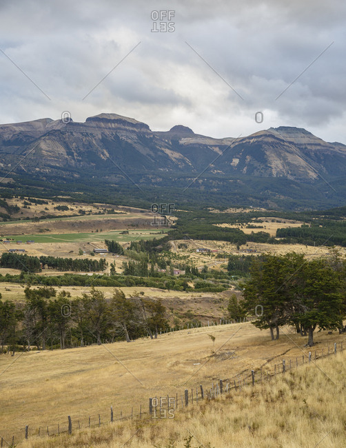 View along the Carretera Austral Road, Patagonia, Aysen Region, Chile