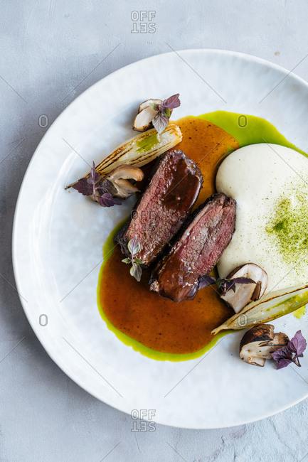 Gourmet beef dish