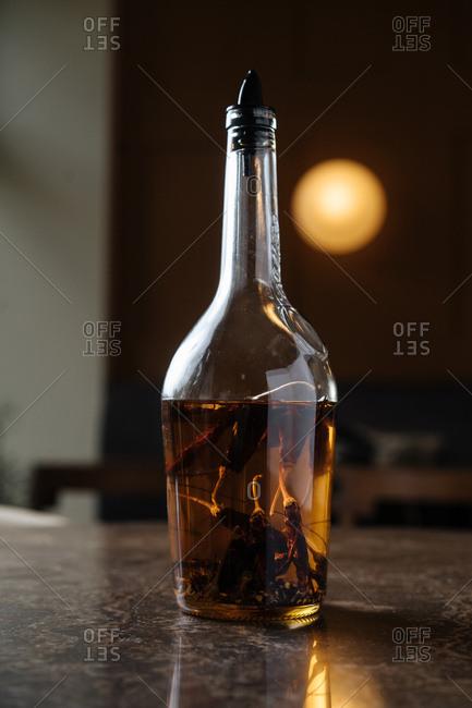Chili pepper infused vodka