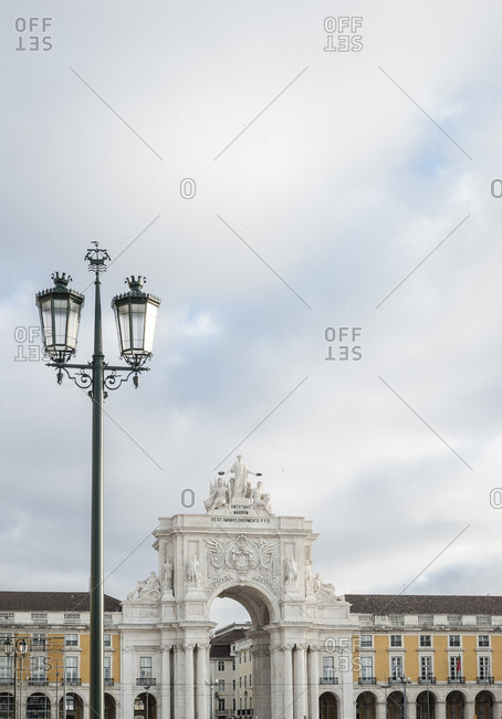 The Praca do Comercio, Commerce square in Lisbon.
