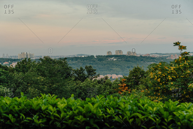 View of hillside and city in Belgrade, Serbia