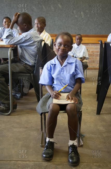 Botswana - January 9, 2008: School children smiling