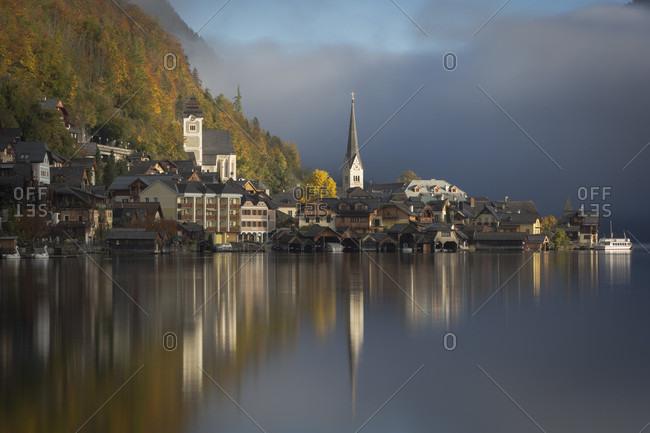 View of scenic village of Hallstatt, Upper Austria, Austria
