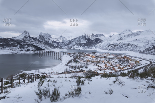 Riano's Environment in snow time, Leon, North spain.
