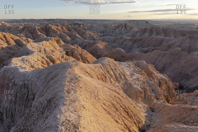 Rock formations of Badlands National Park, South Dakota, USA