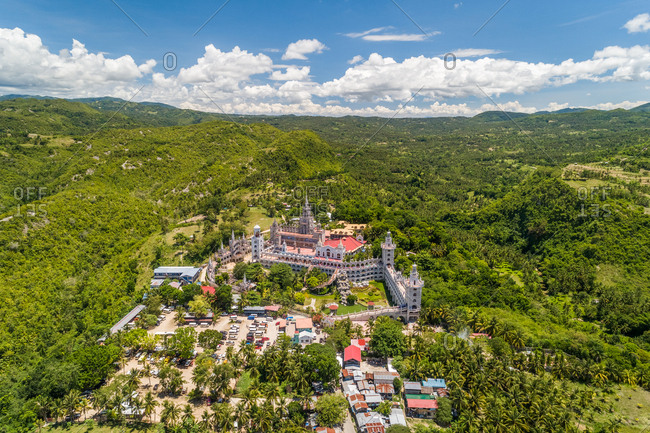 Aerial view of Monastery of the Holy Eucharist, Sibonga, Philippines.