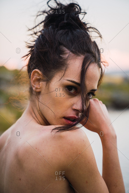 Sensual nude woman in nature