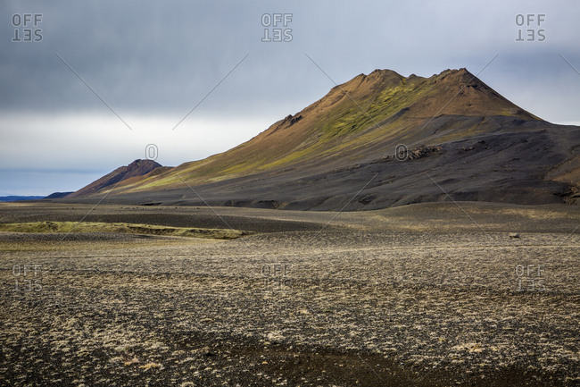 view of amazing mountain in iceland