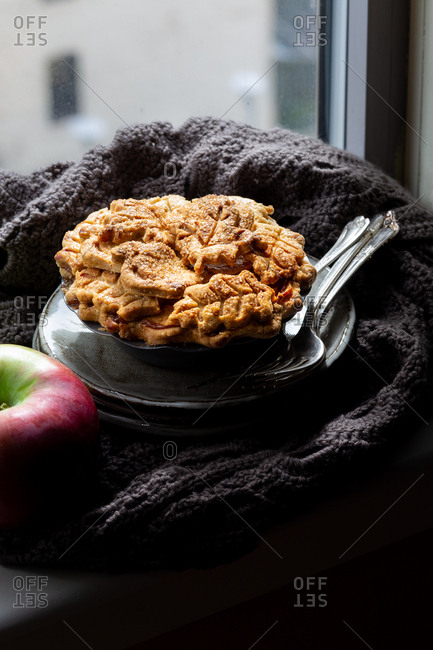 A homemade gluten free apple pie