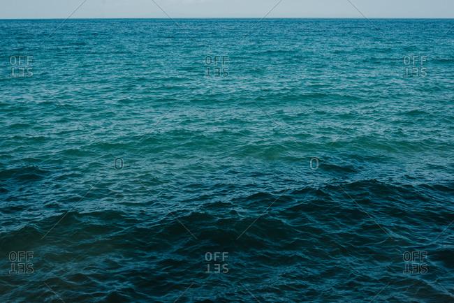 Beautiful view of Aegean Sea in Greece