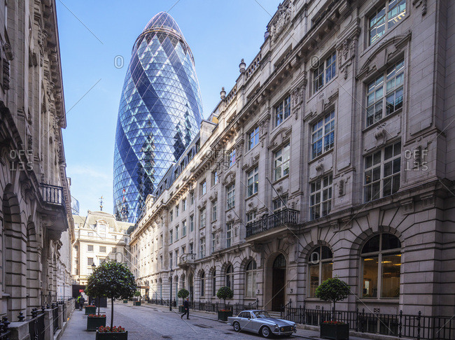 June 6, 2018: The Gherkin (30 St. Mary Axe) building, City of London, London, England, United Kingdom, Europe