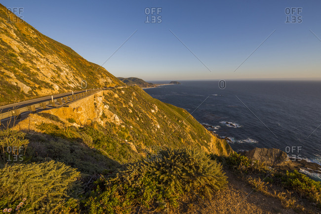 View of Big Sur Coastline, Highway 1, Pacific Coast Highway, Pacific Ocean, California, United States of America, North America