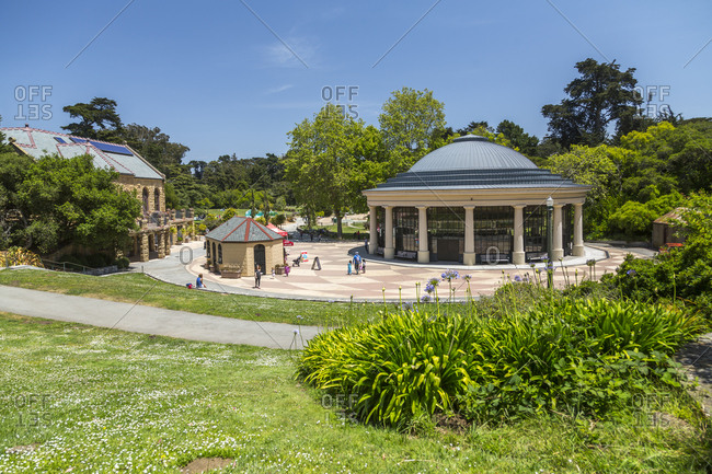 June 7, 2018: View of Carousel, Golden Gate Park, San Francisco, California, United States of America, North America