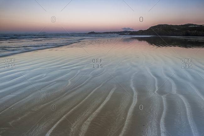 Black Rock Sands Beach at sunrise, near Porthmadog, Gwynedd, North Wales, Wales, United Kingdom, Europe