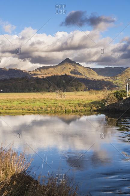 Cnicht seen from near Porthmadog, Snowdonia National Park, North Wales, Wales, United Kingdom, Europe