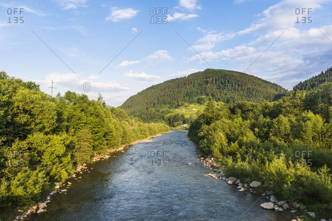 Cheremosh River, Verkhoyna, Carpathian mountains, Western Ukraine, Europe