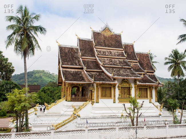 November 26, 2014: Haw Pha Bang temple, part of the National Museum complex, Luang Prabang, Laos, Indochina, Southeast Asia, Asia