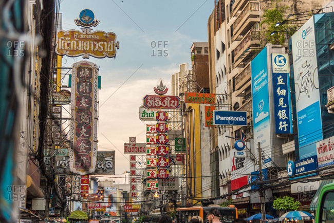 December 29, 2017: Chinatown, Bangkok, Thailand, Southeast Asia, Asia