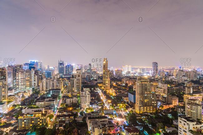 December 28, 2017: Bangkok at night, Bangkok, Thailand, Southeast Asia, Asia