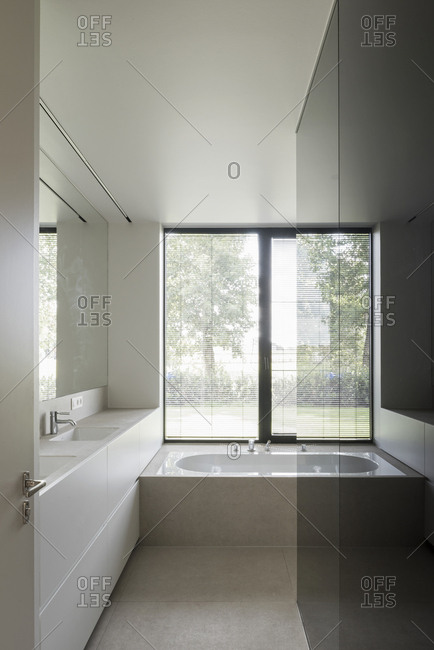 Simple bathroom in a modern home