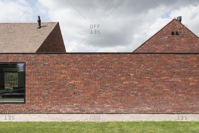 Modern brick house exterior