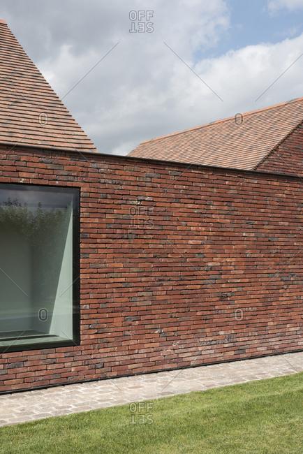 Modern brick home exterior