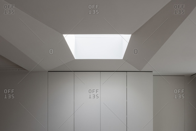 Modern closet with skylight