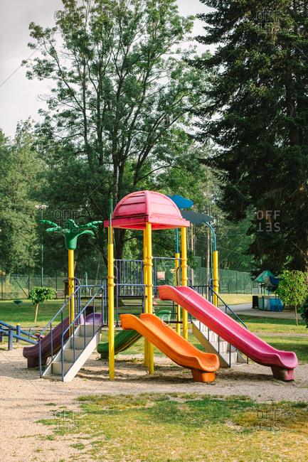 Playground equipment at public park