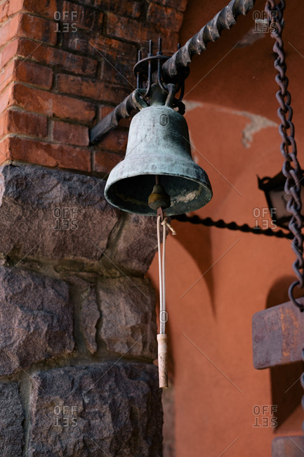 Detail of historic bell