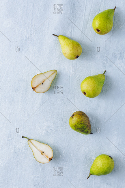 Still life of sugar pears