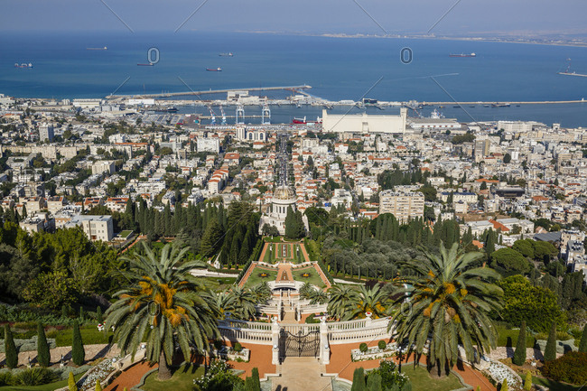 October 23, 2017: The Bahai Gardens, Haifa, Israel.